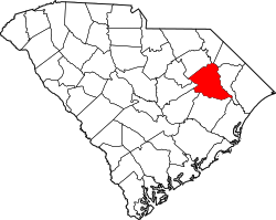 Harta e Florence County në South Carolina