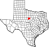 State map highlighting Eastland County