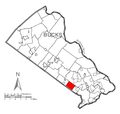 Map of Upper Southampton Township, Bucks County, Pennsylvania Highlighted.png