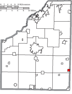Location of Risingsun in Wood County