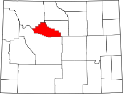map of Wyoming highlighting Hot Springs County
