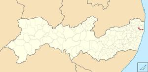 Abreu e Lima, Pernambuco - Image: Mapa de Abreu e Lima (2)