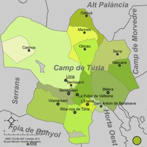 Camp de Túria - Municipalities of Camp de Túria