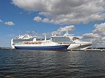 Marco Polo and Emerald Princess at pier 24-25 in Tallinn 2 August 2012.JPG