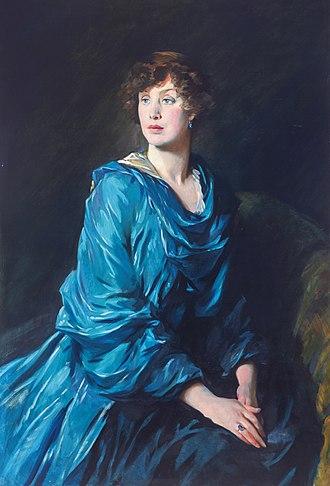 Robert Crewe-Milnes, 1st Marquess of Crewe - Margaret (Peggy) Crewe-Milnes, Marchioness of Crewe (Glyn Philpot, 1917)