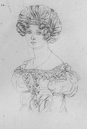 Charlotta Eriksson - Drawing by Maria Röhl 1832