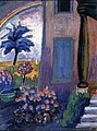 Marianne von Werefkin - St. Prex, Doorway, Garden with Rainbow.jpg