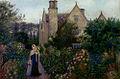 Marie Spartali Stillman - The Long Walk At Kelmscott Manor, Oxfordshire.jpg