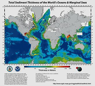 Pelagic sediment - Image: Marine sediment thickness