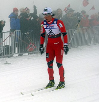 FIS Nordic World Ski Championships 2011 - Marit Bjørgen at Frognerseteren during the women's 15 km pursuit, which she ultimately won
