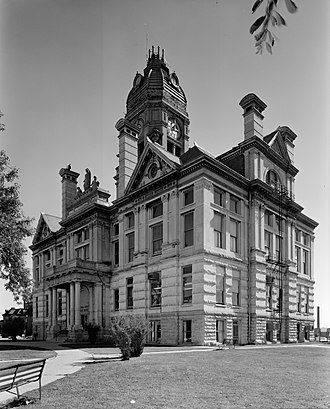 Marshall County Courthouse (Iowa) - Marshall County Courthouse, September 1977