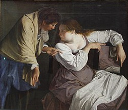 Martha reproving her sister Mary by Orazio Gentileschi (1620) - Alte Pinakothek - Munich - Germany 2017.jpg