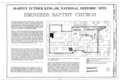 Martin Luther King, Jr. National Historic Site, Ebenezer Baptist Church, 407 Auburn Avenue Northeast, Atlanta, Fulton County, GA HABS GA,61-ATLA,54- (sheet 1 of 14).png