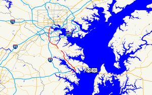 Maryland Route 648 - Image: Maryland Route 648 map