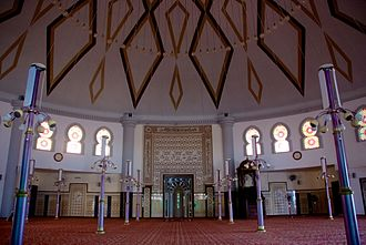 Tanjung Bungah - Interior of the Floating Mosque. It was built in the aftermath of the 2004 Indian Ocean tsunami that hit the suburb.