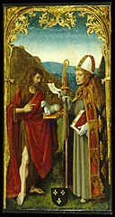 Master of the Virgo inter Virgines - Saint John the Baptist and a Bishop Saint - Walters 37304.jpg