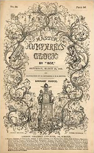 Barnaby Rudge - Cover of the magazine Master Humphrey's Clock where the novel was serialized