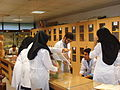 Medical students before exam in saloon of moulages 1.JPG