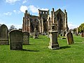 Melrose Abbey and burial ground - geograph.org.uk - 782565.jpg