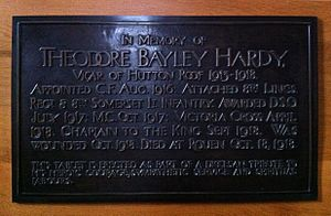 Theodore Hardy - Memorial in Carlisle Cathedral