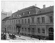 Palais Groeben, Mendelssohn Wohnhaus in Berlin, Leipziger Straße 3 (Quelle: Wikimedia)