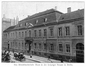 Prussian House of Lords - Former Mendelssohn residence, Leipziger Str. 3, before 1898