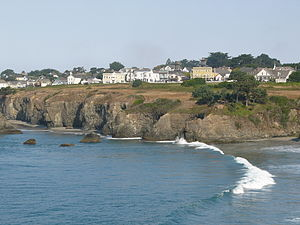 English: Mendocino, California … on a rare sun...