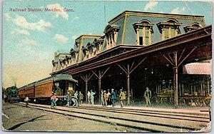 Meriden station - Image: Meriden station 1908 postcard
