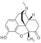 Kemia strukturo de Metopon.