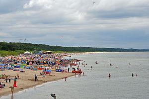 Strand von Międzyzdroje nach Westen