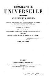 Michaud - Biographie universelle ancienne et moderne - 1843 - Tome 12.djvu