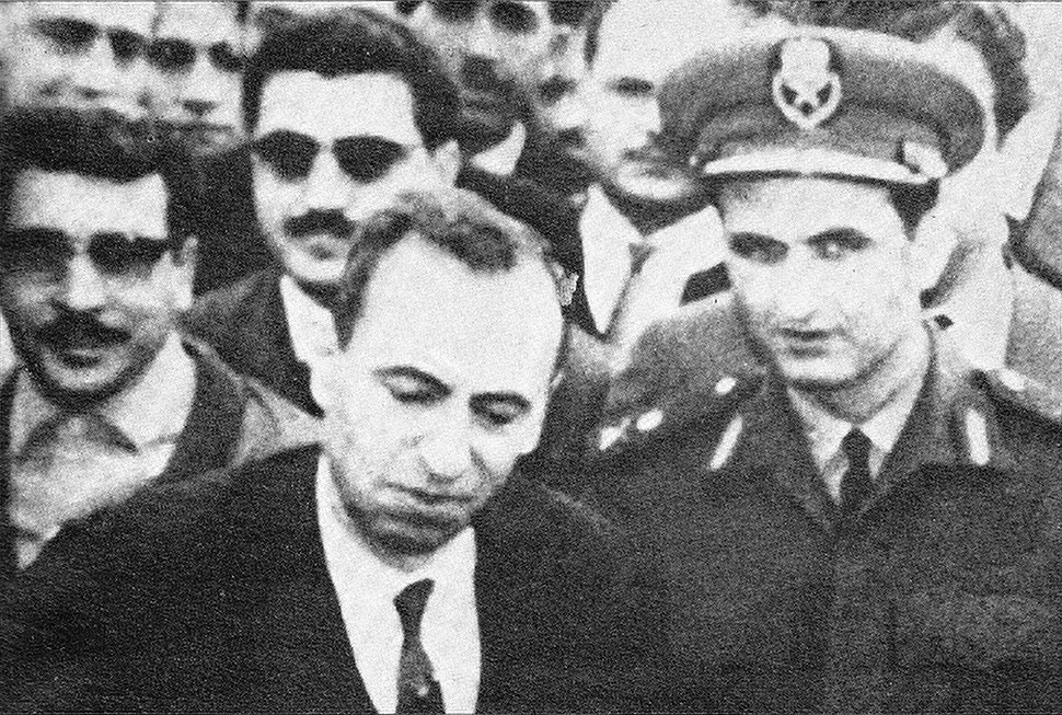 Michel Aflaq and Salah Jadid in 1963