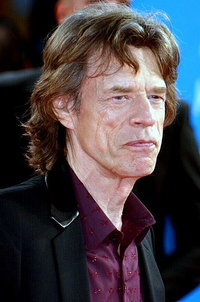 Mick Jagger, English songwriter, singer of The Rolling Stones