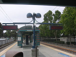 Middlefield station - A station canopy, September 16, 2012