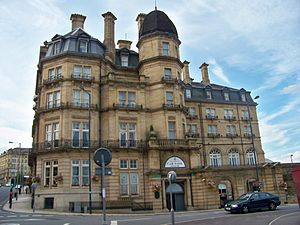 Paul Barrière Trophy - The Midland Hotel, Bradford, whence the trophy was stolen in November 1970. It was not rediscovered for another 20 years.