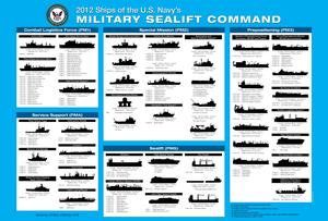 Military Sealift Command ships as of 2012