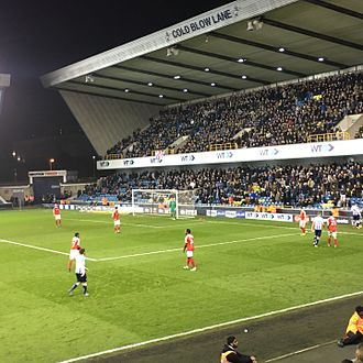South London derby - Millwall and Charlton playing at The Den in December, 2016.