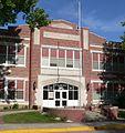 Minden, Nebraska high school center from E 1.JPG
