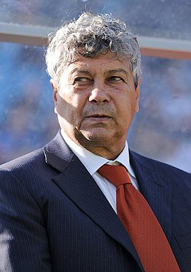 Mircea Lucescu (pictured) and his son, Razvan, had several spells as Rapid managers between 1997 and 2012. They won three, respectively two domestic trophies with the club. Mircea Lucescu 2009.jpg
