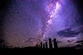 Moai Under the Milky Way at Ahu Tongariki, Easter Island.jpg