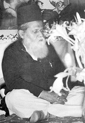 Muhammad Shahidullah - Shahidullah in a literary conference in Curzon Hall, Dhaka (April 1954)