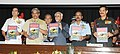 """Mohd. Hamid Ansari releasing a book titled 'The Duels of the Himalayan Eagle', at the inauguration of the """"Tri-Services Seminar to commemorate the Golden Jubilee Commemoration of the India-Pakistan War of 1965"""".jpg"""