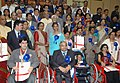 Mohd. Hamid Ansari with the National Awardees for Empowerment of Persons with Disabilities on the occasion of 'International Day of Disabled Persons' being organized by the Ministry of Social Justice and Empowerment.jpg