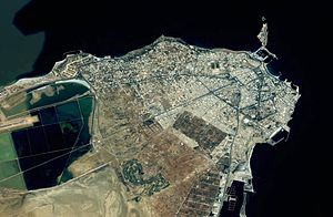 Monastir, Tunisia - Image: Monastir from space