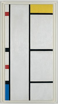 Mondrian - Composition (no. III) blanc-jaune Composition with Red, Yellow, and Blue, 1935-1942.jpg