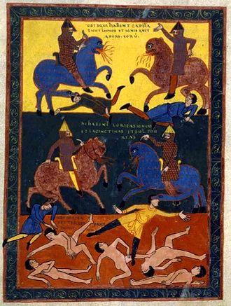 Beatus of Liébana - Image: Monstrous Cavalry