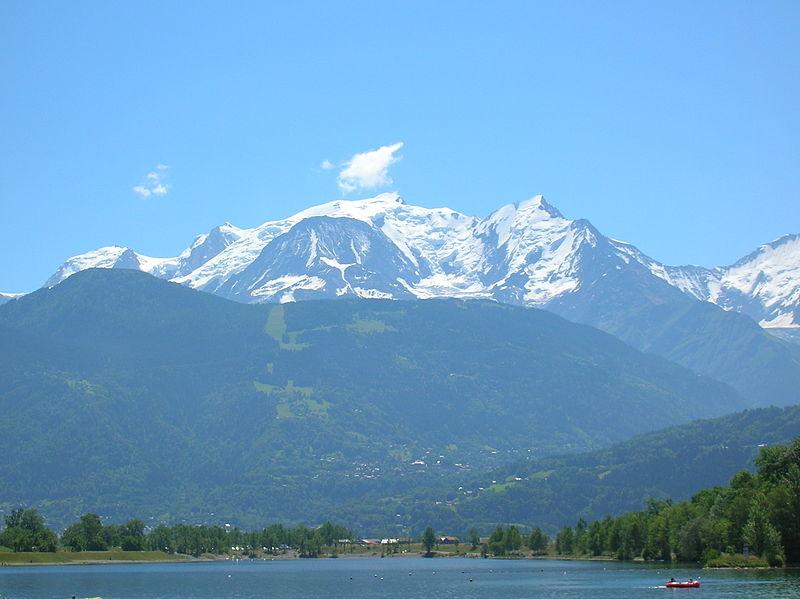 Mont-Blanc and Lake of Passy.JPG