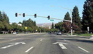 California County Routes in zone G - Montague Expressway at Zanker Road