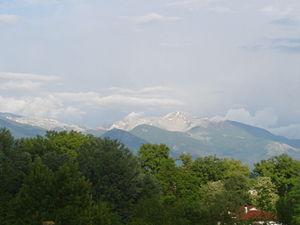 Monti della Meta - Monte Meta seen from Picinisco