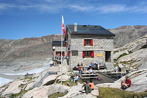 Monte Rosa Hut - Old stone-based hut (1895–2010)